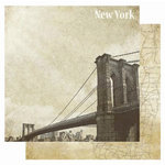 Best Creation Inc - USA Collection - 12 x 12 Double Sided Glitter Paper - New York
