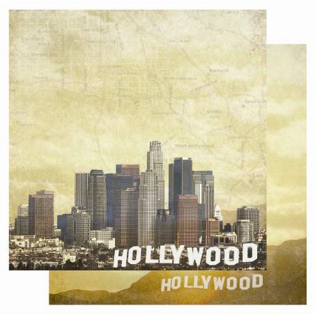 Best Creation Inc - USA Collection - 12 x 12 Double Sided Glitter Paper - Hollywood
