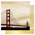 Best Creation Inc - USA Collection - 12 x 12 Double Sided Glitter Paper - San Francisco