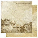 Best Creation Inc - USA Collection - 12 x 12 Double Sided Glitter Paper - Mount Rushmore