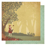 Best Creation Inc - Vintage Story Collection - 12 x 12 Double Sided Glitter Paper - Once Upon a Time