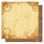 Best Creation Inc - Vintage Travel Collection - 12 x 12 Double Sided Glittered Paper - Memorable Moment