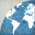 BasicGrey - Adrift Collection - 12 x 12 Double Sided Paper - Nautical