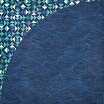 BasicGrey - Adrift Collection - 12 x 12 Double Sided Paper - Waves