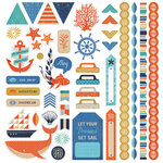 BasicGrey - Adrift Collection - 12 x 12 Cardstock Stickers - Elements
