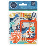 BasicGrey - Adrift Collection - Die Cut Cardstock and Transparency Pieces