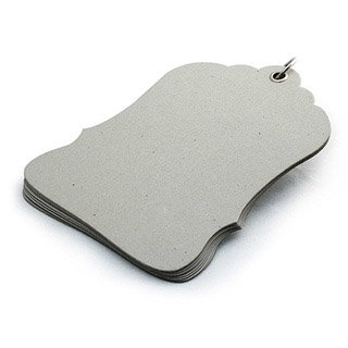 BasicGrey - Chipboard Album - Luggage Tag , CLEARANCE