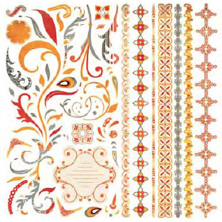 BasicGrey - Ambrosia Collection - 12x12 Element Stickers - Shapes, BRAND NEW