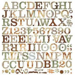 BasicGrey - Archaic Collection - Mini Monogram Stickers