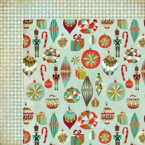 BasicGrey - Aspen Frost Collection - Christmas - 12 x 12 Double Sided Paper - Tin Soldier