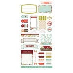 BasicGrey - Aspen Frost Collection - Christmas - Cardstock Stickers - Titles