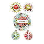 BasicGrey - Aspen Frost Collection - Christmas - Accordion Stickers