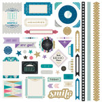 BasicGrey - Aurora Collection - 12 x 12 Cardstock Stickers - Elements