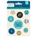 BasicGrey - Aurora Collection - Flair - Adhesive Badges