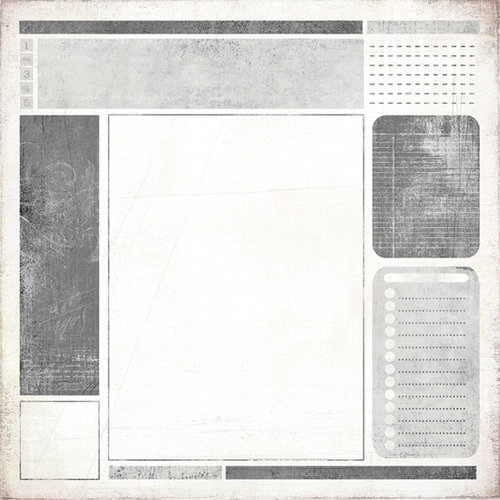 BasicGrey - Basic White Collection - 12 x 12 Paper - Bloc