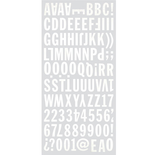 BasicGrey - Basic White Collection - Mini Monogram Stickers
