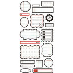BasicGrey - Basic White Collection - Cardstock Stickers - Labels