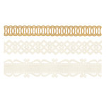 BasicGrey - Basic Manila Collection - Doilies - Self Adhesive Ribbon