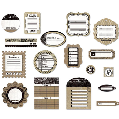 BasicGrey - Basic Kraft Collection - Die Cut Cardstock Pieces, CLEARANCE