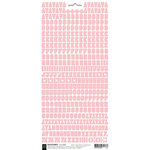 BasicGrey - Micro Monogram Stickers - Alphabet - Pink