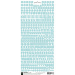 BasicGrey - Micro Monogram Stickers - Alphabet - Blue