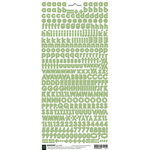 BasicGrey - Micro Monogram Stickers - Alphabet - Green