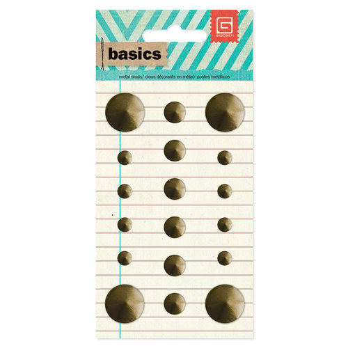 BasicGrey - Basics Collection - Metal Studs - Brass Circles