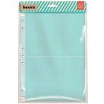 BasicGrey - Basics Collection - 7 x 9 Divided Page Protectors - Nine Pack