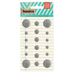 BasicGrey - Basics Collection - Metal Studs - Silver Circles