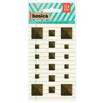 BasicGrey - Basics Collection - Metal Studs - Brass Squares