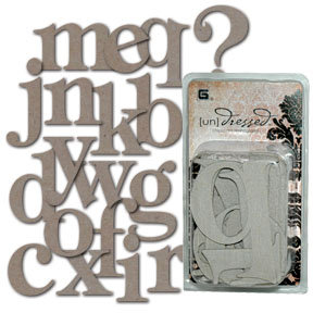 BasicGrey - Undressed Chipboard Monograms