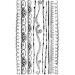 BasicGrey - Elements Rub Ons - Lace Border - Black