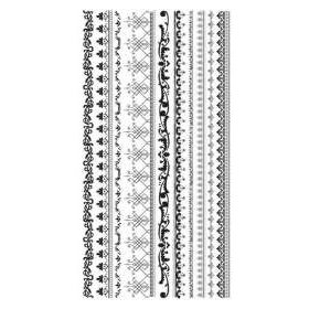 BasicGrey - Transfers - Rub Ons - Border Trim - Black