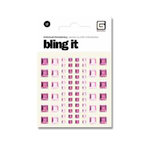 BasicGrey - Bling It Collection - Rhinestones - Individual Squares - Blush and Rouge, CLEARANCE