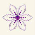 BasicGrey - Bling It Collection - Rhinestones - Designer Lotus - Lilac, CLEARANCE