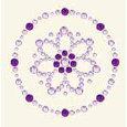 BasicGrey - Bling It Collection - Rhinestones - Designer Daisy - Lilac