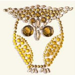 BasicGrey - Bling It Collection - Rhinestones - Designer Owl - Curry and Nutmeg