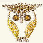 BasicGrey - Bling It Collection - Rhinestones - Designer Owl - Curry and Nutmeg