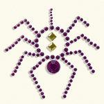 BasicGrey - Bling It Collection - Rhinestones - Designer Spider - Violet