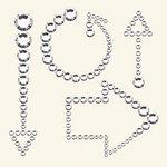 BasicGrey - Bling It Collection - Rhinestones - Arrows - Diamond