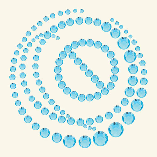 BasicGrey - Bling It Collection - Rhinestones - Circle It - Sky, CLEARANCE