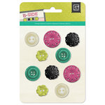 BasicGrey - B-Side Collection - Resin Flower Buttons