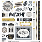 BasicGrey - Barista Collection - 12 x 12 Cardstock Stickers - Elements