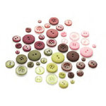 Basic Grey - Eva Collection - Buttons, CLEARANCE