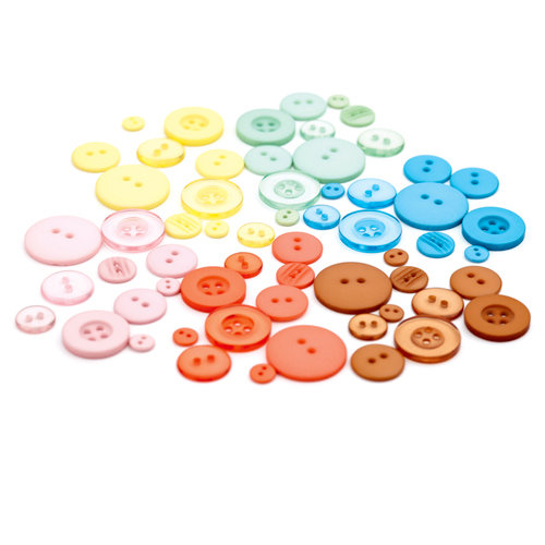 BasicGrey - Hopscotch Collection - Buttons