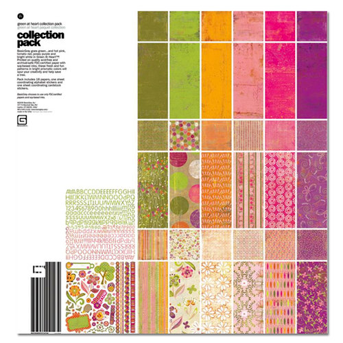 BasicGrey - Green at Heart Collection - 12 x 12 Collection Pack