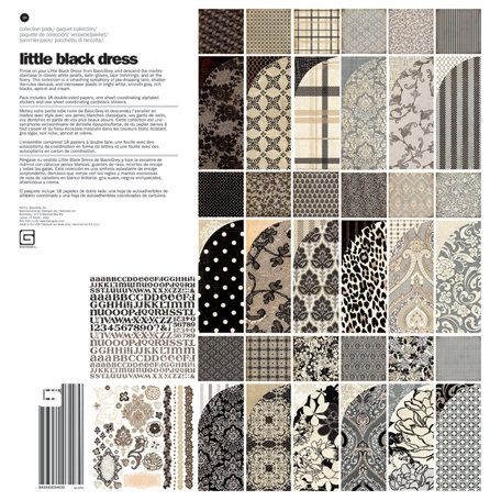 BasicGrey - Little Black Dress Collection - 12 x 12 Collection Pack