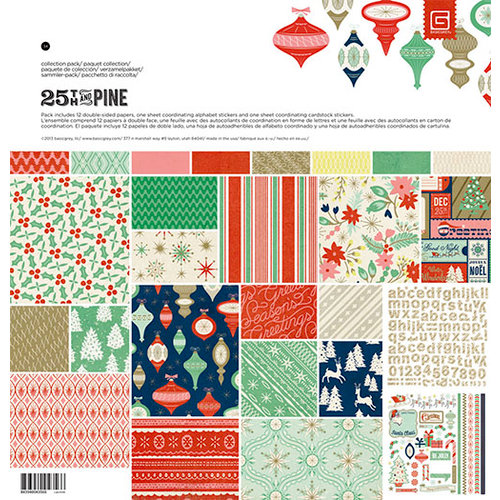 BasicGrey - 25th and Pine Collection - Christmas - 12 x 12 Collection Pack