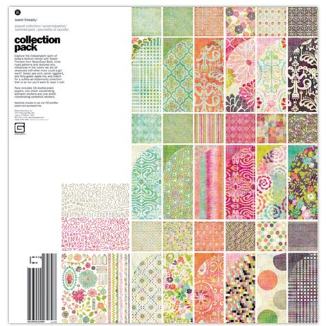 BasicGrey - Sweet Threads Collection - 12 x 12 Collection Pack
