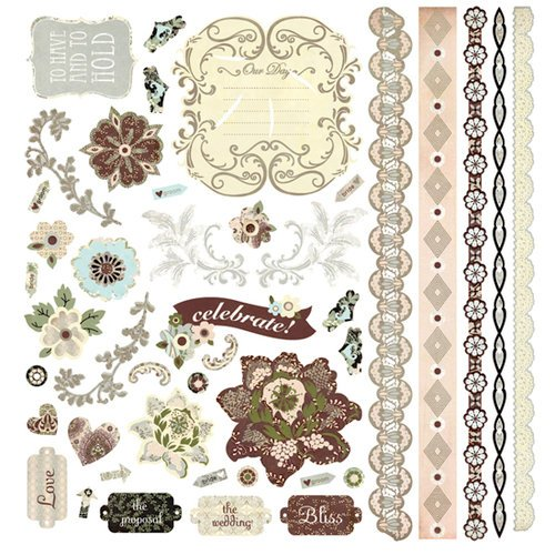 BasicGrey - Cappella Collection - 12 x 12 Element Stickers - Shapes
